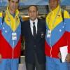 Junto a los Entrenadores de la Selección de venezuela. Senseis Alejandro Castro  y Carlos Henrique.